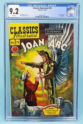 CLASSICS ILLUSTRATED#78 CGC 9.2 White Pages JOAN OF ARC 1950 1st Edition