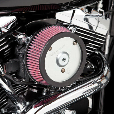 Arlen Ness Big Sucker Stage I Air Cleaner Kit Red Filter Plain Plate 18-803