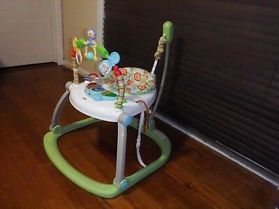 Fisher Price Colourful Zoo spacesaver Jumperoo Folding Good Condition