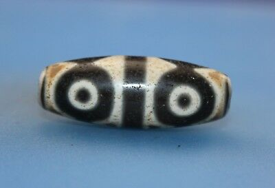 39*15 mm Antique Dzi Agate old 6 eyes Bead from Tibet **Free shipping**