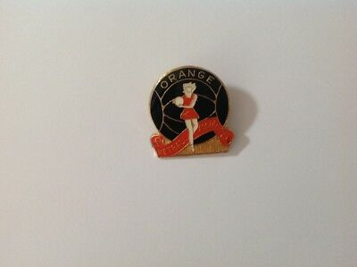 Collectable metal pinback badge  - Orange Netball Association