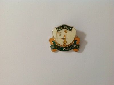 Collectable metal pinback badge  - Newcastle Netball Association