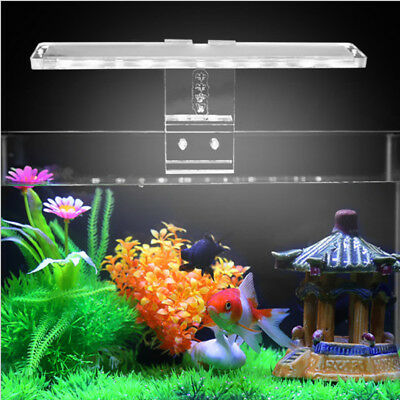 21cm 8 LED Aquarium Fish Tank Plant Lighting Reptile Climbing Pet Lamp Clip on