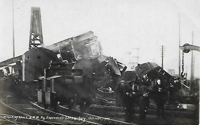 SHREWSBURY RAILWAY CRASH OCT 15th 1907 B&W UNUSED POSTCARD  MY REF 1419