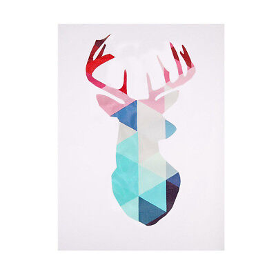 40x30cm Geometric Deer Head Abstract Canvas Print Art Poster Home Wall Decor