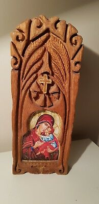 Haunted church item. Wooden. Carved. Spiritual.