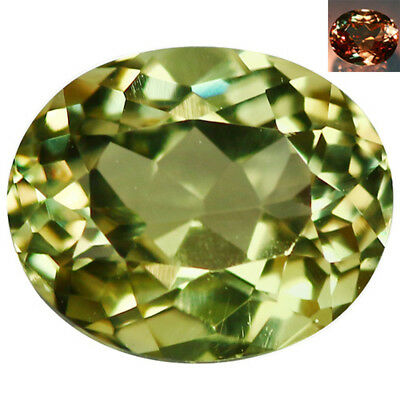 2.26Ct IF Tremendous Oval Cut 9 x 7 mm AAA Color Change Turkish Diaspore