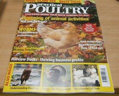 Practical Poultry magazine Sep/Oct '18 Rhode Island Red Focus +Newcastle Disease