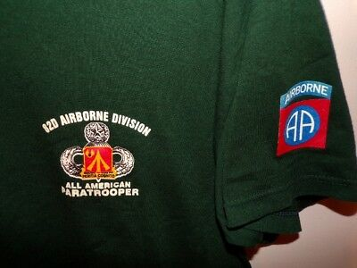 US ARMY T-SHIRT - 82nd ABN 782nd MSB - LARGE - UNWORN