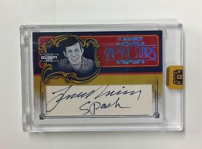 2008 Donruss Celebrity Cuts Movie Stars Leonard Nimoy Auto/Autograph #6/8 SPOCK