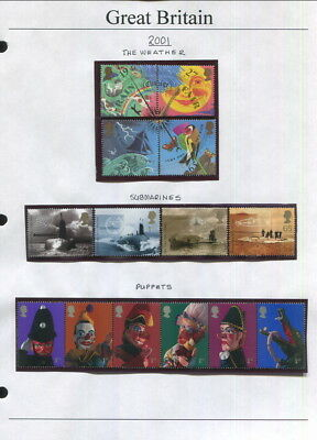 Great Britain On Album Pages 2001 To 2004-Many Mnh!