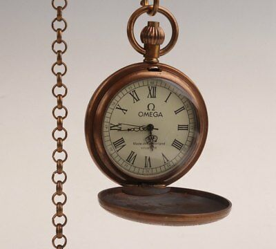 Brass Hand-Carved Machinery Precision Antique Pocket Watch Collection Old Gifts