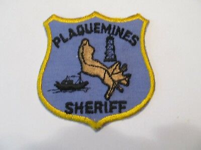Louisiana Plaquemines Parish Sheriff Patch Old Cheese Cloth
