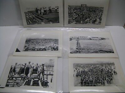 12 Reproduction Photos of Coney Island Boardwalk Construction & Surrounding Area