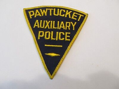 Rhode Island Pawtucket Auxiliary Police Patch Old Cheese Cloth