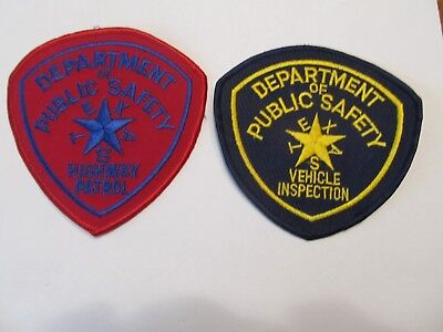 Texas state Highway Patrol Patch Old & Vehicle Inspection