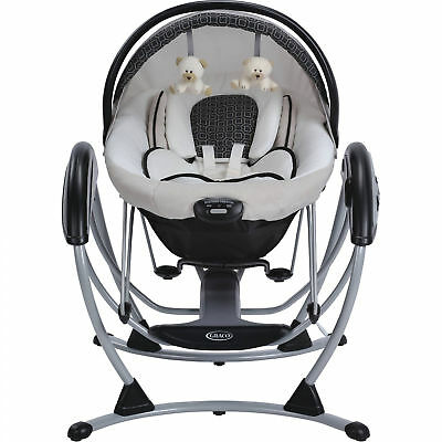 Graco Elite 2 in 1 Vibrating Reclining Infant Gliding Swing and Bouncer, Pierce
