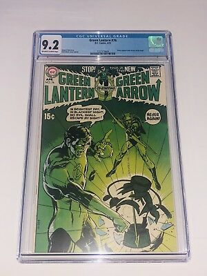 Green Lantern 76 CGC 9.2 NM- OWW DC 1970 Green Arrow Neal Adams