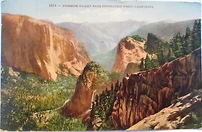 1910 Postcard Yosemite Valley From Inspiration Point California