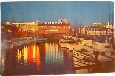 1950s POSTCARD FISHERMAN'S WHARF SAN FRANCISCO CA
