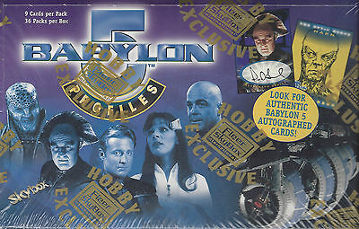 TC Babylon 5 Profiles Box 36 Packs inkl. 1 Autogramm Karte !!!