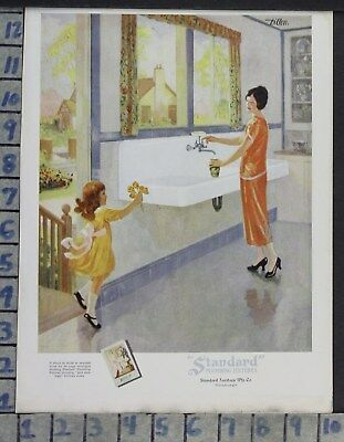 1925 Home Decor Kitchen Sink Standard Plumbing Cleaning Dress Vintage Ad Cp51