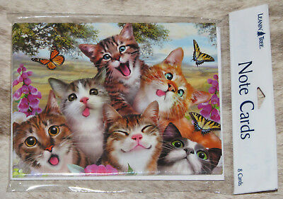 LEANIN TREE Laughing Comical Cats Selfie #35581~8 Notecards~Howard Robinson