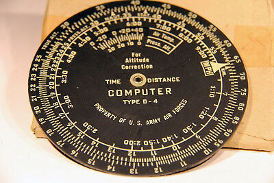 Vintage True Air Speed Computation Time And Distance Disc - U.s. Air Force