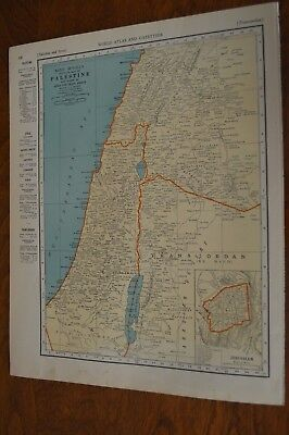 1937 Map of Palestine - Map of Turkey, Syria and Iraq On Reverse