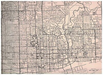 Toronto Ontario Canada 1942 Street Map Of Central Section