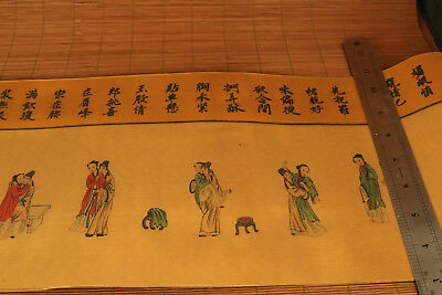 very Big Chinese Old Cloth Hand Painting Royal Life Roll Collectable