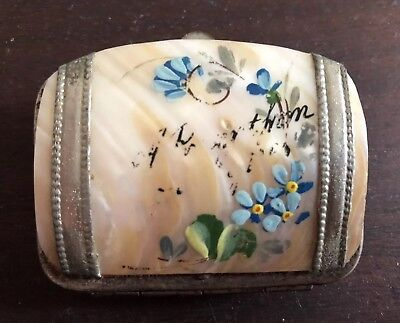 victorian Mother Of Pearl Shell Sovereign Coin Purse