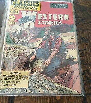 Classics Illustrated#62~Western Stories~First Edition !!!