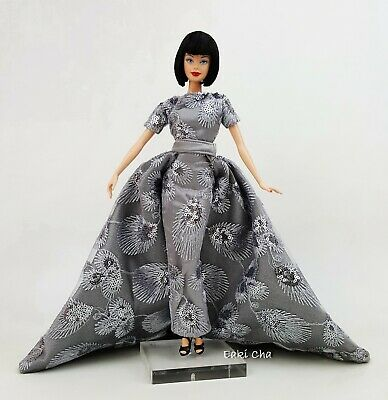 Silver Evening Dress Outfit Gown Fits Silkstone Barbie Fashion Royalty Model FR