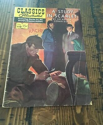 Classics Illustrated#110~A Study In Scarlet~First Edition !!!