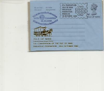 Isle of Man 1980 Philatelic Convention Overprinted Air Letter