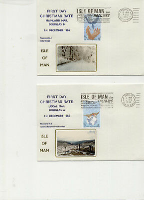 Isle of Man Pair of 1986 First Sunday Cancellation Covers, Douglas A & B