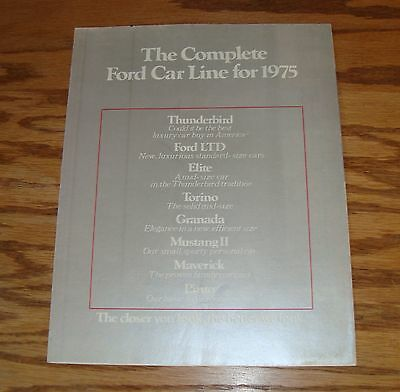 Original 1975 Ford Full Line Foldout Sales Brochure 75 Mustang Thunderbird