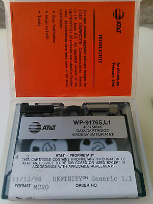 Vintage Computer At&t  Data Cartridge Definity Generic 1.1 Wp-91765,l1 Tape