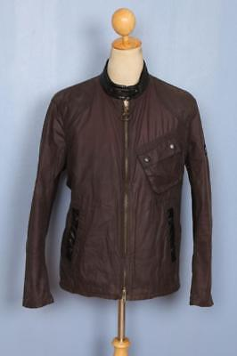 Mens BARBOUR International Steve McQueen Greenham Waxed Jacket Size Large