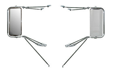 Set of  Chrome Adjustable Top Arm Assembly w/ West Coast Mirror