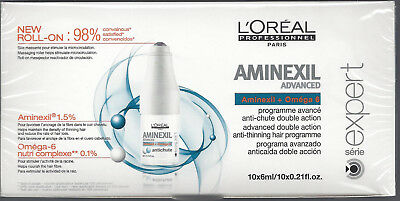 L'OREAL AMINEXIL Advanced - Programme anti-chute - 10 x 6ml - NEUF Sous blister