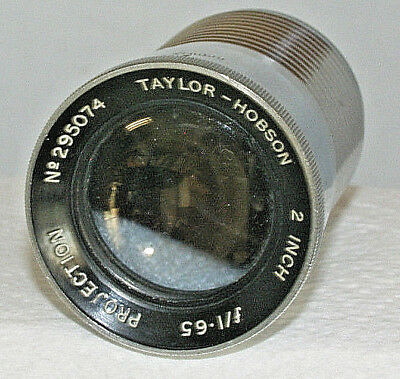 Taylor-Hobson 2 inch f/1.65 Barrel/Projection Lens SPARES/REPAIRS NO RETURN