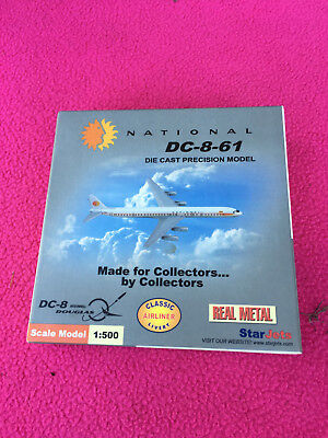 STARJETS airline NATIONAL DC-8-61 die cast metal NEW old stock SCALE 1:500 jet