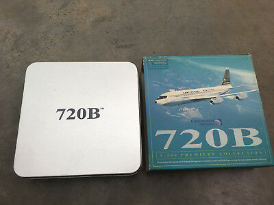 CONTINENTAL AIRLINES model plane BOEING 720B diecast 1:400 scale AIRLINER metal