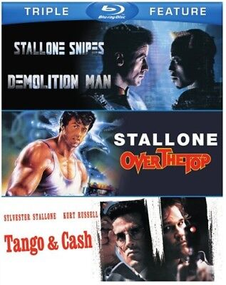 DEMOLITION MAN + OVER THE TOP + TANGO & CASH New Blu-ray Sylvester Stallone