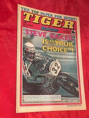 TIGER & SCORCHER -WEEKLY BRITISH COMIC -29th SEPT 1979-JOHN LEVER-FOOTBALL TEAM