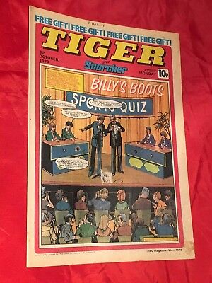TIGER & SCORCHER -WEEKLY BRITISH COMIC-6th OCTOBER 1979-LIVERPOOL & DERBY COUNTY