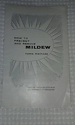 Vintage How to Prevent MildewFARMERS BULLETIN 68US Dept of Agriculture 1960