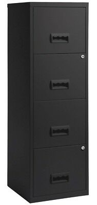 NEW Pierre Henry 4 Drawer Maxi Filing Cabinet A4 - (Black)